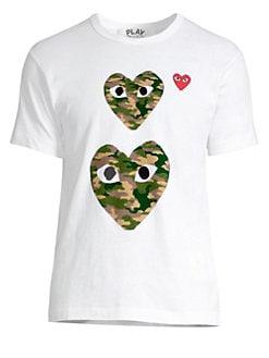 2041cf06019 Comme des Garcons Play. Double Camo Logo T-Shirt