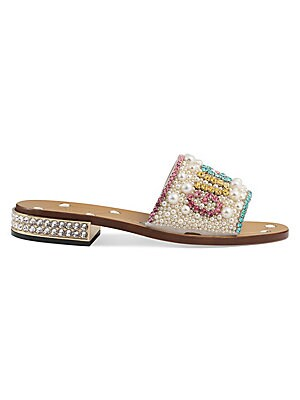 45644a54259 Gucci - GG Blooms Supreme Slide Sandals - saks.com