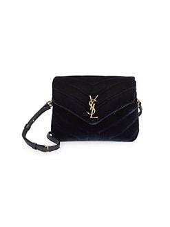 4bf76e28620d3 QUICK VIEW. Saint Laurent. Toy Loulou Matelassé Velvet Crossbody Bag