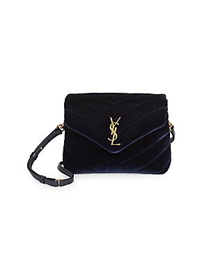 b2bb349fcc Saint Laurent - Toy Loulou Velvet Crossbody Bag - saks.com