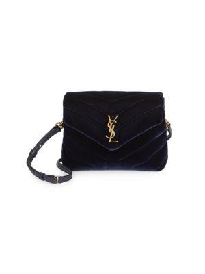 Toy Loulou Velvet Crossbody Bag by Saint Laurent