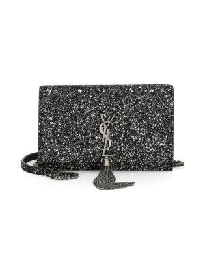 Saint Laurent - Medium Monogram Mattelasse Leather Chain Wallet ... ac84263aac