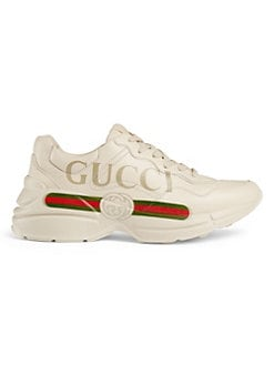 e85703063c0 Product image. QUICK VIEW. Gucci. Rhyton Gucci Logo Leather Sneaker