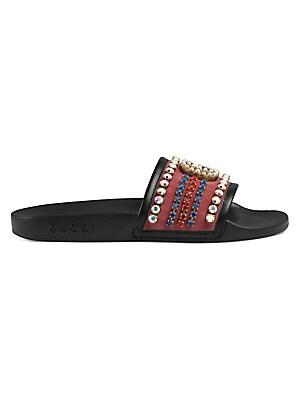53fc24af11c2 Gucci - Pursuit GG Crystal Slides. Gucci Signature Slide Sandal - Gucci  Men s Sandals N8h1915EK94