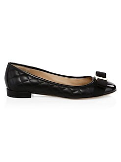 0e4cc395b13 Salvatore Ferragamo. Varinaq Leather Ballet Flats