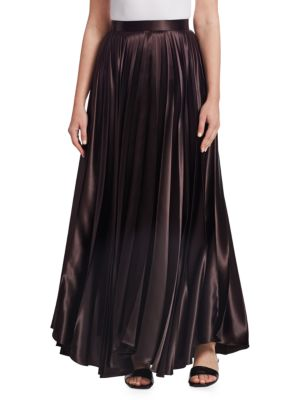 Vailen Charmeuse Maxi Skirt, Dark Brown