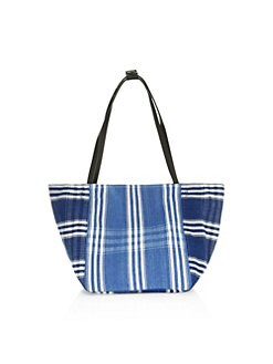6494700574 QUICK VIEW. Elizabeth and James. Fortune Striped Woven Tote Bag