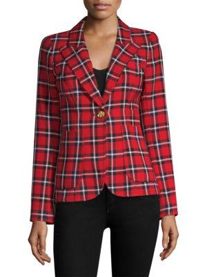 Patch Pocket Duchess Blazer, True Red