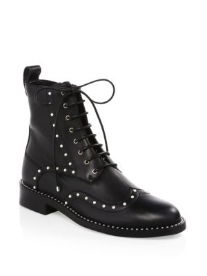 Hanah Studded Oxford Boots by Jimmy Choo