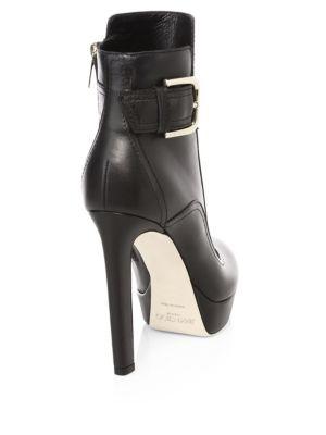 JIMMY CHOO High heels Britney Platform Leather Ankle Boots