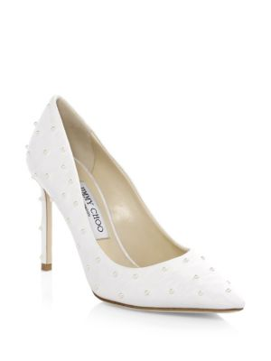 Romy Satin Point Toe Pumps by Jimmy Choo