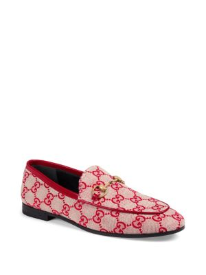 Jordaan Gg Canvas Loafers by Gucci