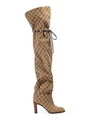 92c916098b0 Gucci - Original GG Canvas Over-The-Knee Boots - saks.com