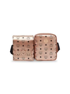 Stark Canvas Double Belt Bag - Metallic, Champagne