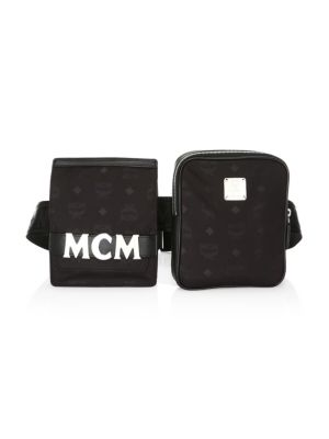 Dieter Monogrammed Nylon Modular Belt Bag by Mcm