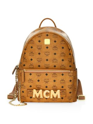 MCM Trilogie Stark Backpack In Visetos in Co