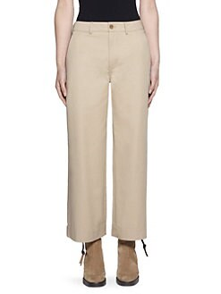 Pants for Women On Sale, Ivory, Cotton, 2017, 28 Valentino