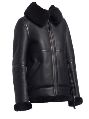 Acne Studios Shearling-Trimmed Leather Biker Jacket 4476a597d1e