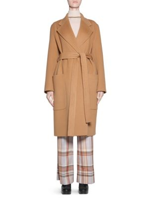 Belted Wool Cashmere Coat by Acne Studios