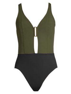 Amoressa Eclipse Ursa V-neck One-Piece Swimsuit