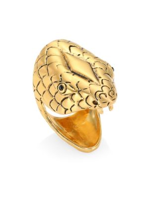 Chameleon Goldtone Statement Ring