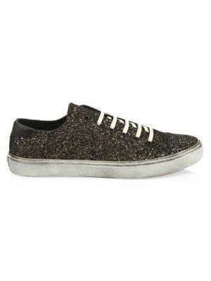 Bedford Sneaker In Leather And Glitter, Glitter Black