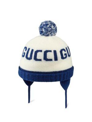 c0176b4c Gucci - Boy's Knit Web Trim Beanie Hat - saks.com