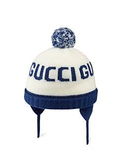 65bc78f11cb Gucci. Baby s Pom Pom Beanie