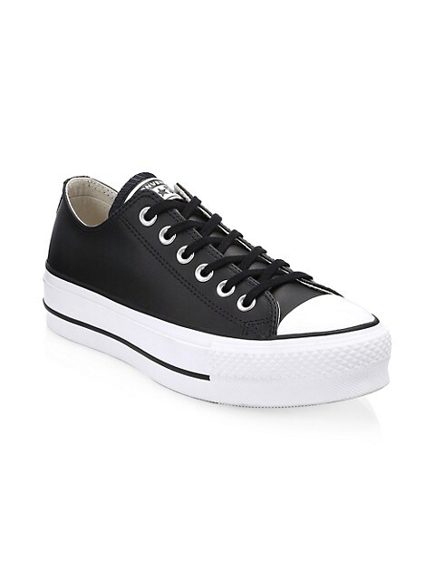 Chuck Taylor All Star Leather Platform Low-Top Sneakers