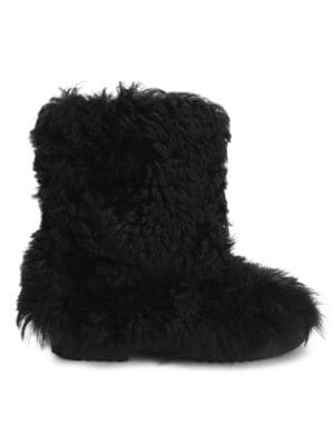 Genuine Shearling Boot, Black