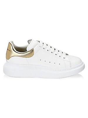 415a9f301105d Alexander McQueen - Platform Leather Low-Top Sneakers - saks.com