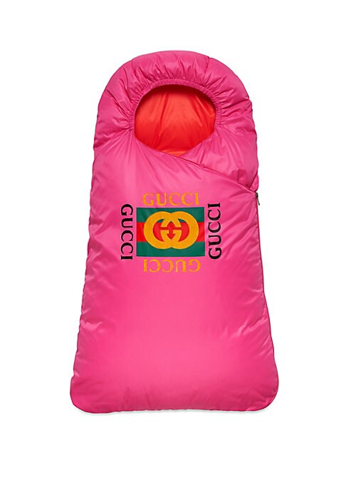 Image of Retro-style Gucci logo fronts this cozy baby sleeper. Side zip closure. Nylon. Dry clean. Made in Italy.