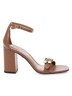 af4318fb8 COACH - Maya Ankle-Strap Leather Sandals - saks.com