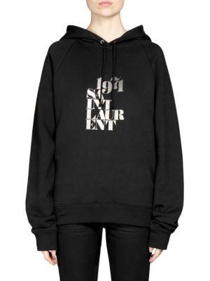SAINT LAURENT 1971 St. Laurent Hooded Sweatshirt, Black