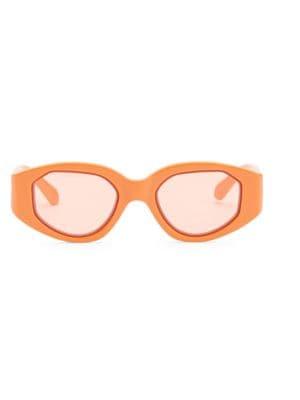 Castaway 48Mm Round Sunglasses - Tangerine/ Coral
