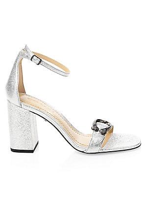 a8e210473c3 COACH - Maya Ankle-Strap Metallic Sandals - saks.com