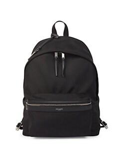 4b6e59059f97 Saint Laurent. Logo City Backpack