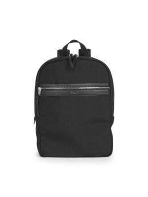 SAINT LAURENT City Backpack In Black Canvas