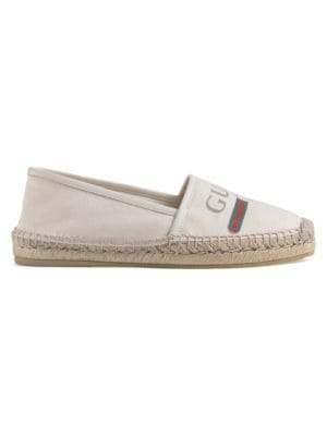 Logo Canvas Espadrilles by Gucci