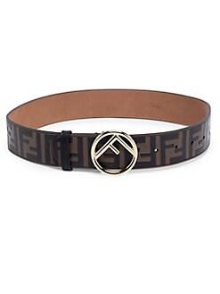a347b77fc5 Fendi. Leather Logo Belt