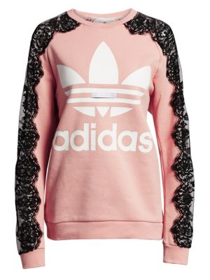 order online official images authentic Stella McCartney by adidas Lace Insert Sweatshirt