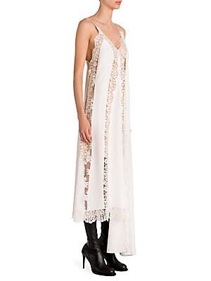 ed127aa876a0 Stella McCartney - Lingerie Asymmetric Silk Lace Slip Dress - saks.com