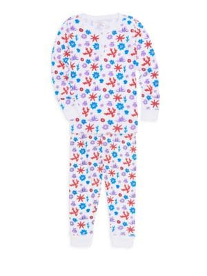 Baby Girls Little Girls  Girls Aeolian Islands Posei Footie Pajamas