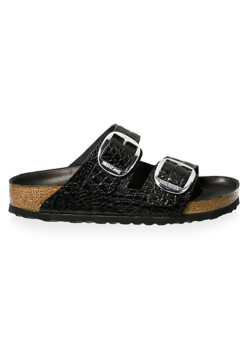 Image of Open toe slip-on sandals with a contoured cork footbed that supports the arches of your foot and cradles your heel for all day comfort. Leather upper. EVA sole. Heel, about 10mm. Made in Germany.