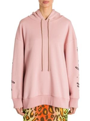 Message Love Embroidered Hoodie, Pink