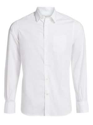 Officine Generale Benoit Cotton Poplin Button Down Sportshirt