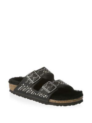 Arizona Rivet Slip-On Sandals, Black
