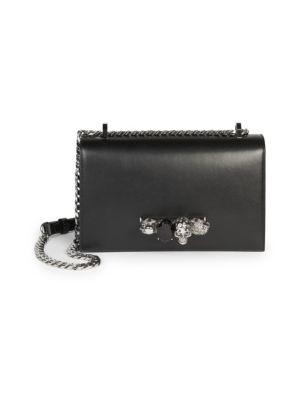 Alexander McQueen Jewelled Leather Satchel Jewelled Leather fcdf017a71035