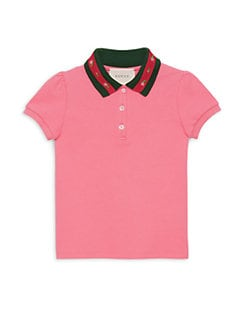 ee625fd4a7f Gucci. Little Girl s   Girl s Cotton Polo