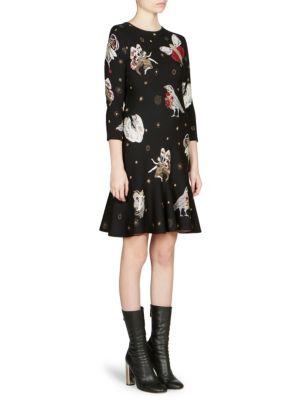 Gothic Fairytale Mini Dress, Black-Multi